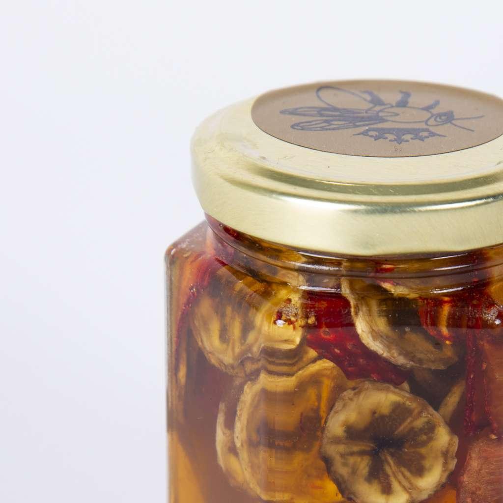 Мед с банани и ягоди/Стъклен буркан 230 гр.
